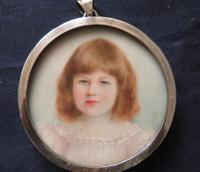 Miniature Portrait Jean Ross 1903 Edwardian Hallmarked Silver Frame Engraved (3 of 4)