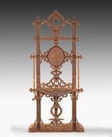Elaborate Mid 19th Century Cast Iron Hall / Stick Stand (3 of 5)
