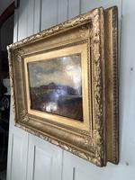 Antique Large Impressionist Landscape Oil Painting in Opulent Frame (9 of 10)