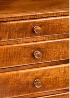 Victorian Period Satin Fiddleback Miniature Chest of Drawers (4 of 4)