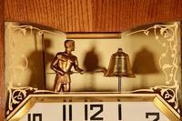 French Oak Signed Odo Automaton Striking Wall Clock (4 of 6)
