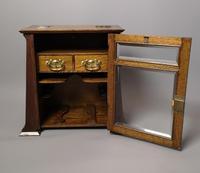 Antique Art Nouveau Oak Smokers Cabinet (7 of 13)