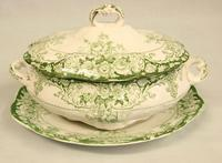 Antique Sauce Tureen on Stand (4 of 6)