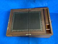 Victorian Brassbound Walnut Writing Slope (13 of 14)