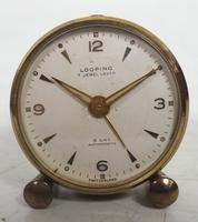 Antique Travelling Mantel Clock with Original Leather Outer Case 8-Day Mantel Clock by Looping with 7 Jewels (4 of 9)