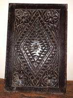 c.1570 A.D. English Tudor Carved Oak Wooden Panel (2 of 11)