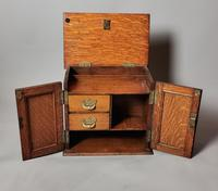 Antique Victorian Oak Smokers Cabinet, Arts & Crafts (13 of 14)