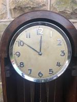 Antique Oak Triple Weight Granddaughter Clock (4 of 10)