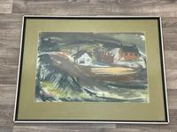 Scottish Mixed Media Painting Cottages in Ayrshire Signed Robert Sinclair Thomson 1915-1983 ARSA, RSW (23 of 27)