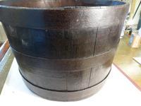 "Interesting ""Scottish Kiver"" Coopered Ash Barrel c.1850 (5 of 5)"