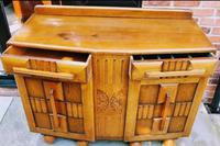 Art Deco Oak Wood Sideboard with Ball Feet (8 of 9)