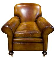 Pair of Leather Club Chairs c.1890 (3 of 11)