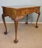 Antique Fine Quality Queen Anne Style Burr Walnut Side / Centre Table (4 of 8)