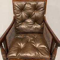 Regency Library Armchair With Leather Cushions (3 of 8)