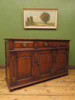 Solid Georgian Style Oak Dresser Base Sideboard by Titchmarsh & Goodwin (21 of 22)