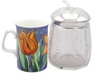 German Silver & Cut Glass Jar c.1930 (3 of 9)