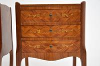 Pair of Antique French Inlaid Marquetry Bedside Tables (9 of 10)