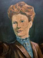 Stylish Mid 20th Century Vintage Portrait Oil Painting of a Trendy Seated Lady (5 of 11)
