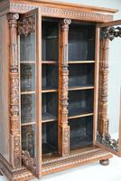 Anglo Indian Carved Rosewood Glazed Cabinet (13 of 14)