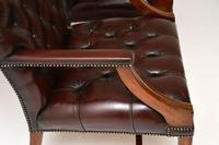 Pair of Antique  Deep  Buttoned Leather Library Armchairs (4 of 12)