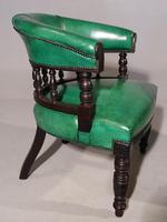Fine Pair of Victorian Horseshoe Backed Library or Desk Chairs (4 of 5)