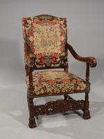 Well Carved Early 20th Century Oak Throne Type Chair (5 of 7)
