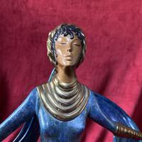 "Erte (romain De Tirtoff) Ltd Edition Bronze Sculpture ""Ecstasy"" 163/500 (6 of 16)"