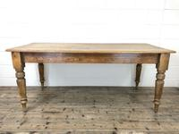 Victorian Pine Kitchen Table (8 of 9)