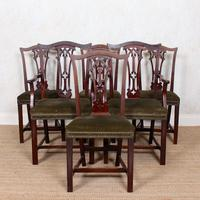 Oak Dining Table & 6 Chairs Telescopic 19th Century (4 of 19)