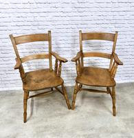 Set of Oxford Barback Windsor Chairs with 2 Carvers (7 of 7)