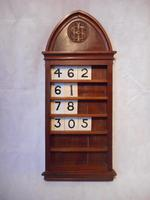 Victorian Hymn Number Board