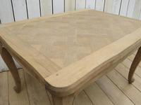 Bleached Oak Extending Draw Leaf Dining Table Desk (4 of 10)