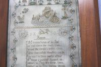 Rare & Fine Embroidery Silk Textile Scottish Castle Sampler c.1841 (7 of 9)
