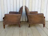 Pair of Antique French Leather Club Chairs (13 of 14)