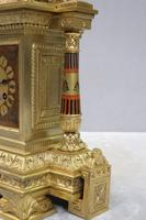 French Egyptian Revival Bronze Gilt Mantel Clock by Achille Brocot (5 of 12)