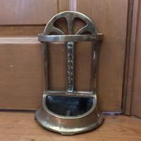 Brass Door Porter - Door Stop - In Shape of a Stick Stand (2 of 8)
