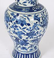 Mid 19th Century Chinese Blue & White Pottery Vase (3 of 9)