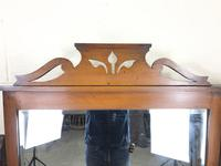 Antique Satin Walnut Dressing Table with Mirrors (7 of 10)