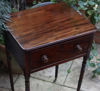 1820s Mahogany Single Drawer Work / Side Table (4 of 6)