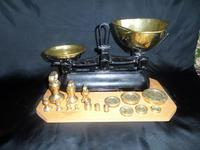 Avery Scales with Variety of Brass Weights on Especially Made Board (3 of 6)