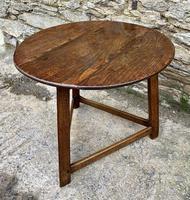 Antique Georgian Oak Cricket Table (12 of 15)