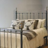 Charcoal Victorian Bed with Nickel Plating (10 of 11)