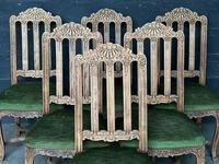 Set of 6 French Oak Farmhouse Dining Chairs (4 of 10)