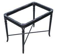 Victorian Decorated Black Lacquer Tray on Stand Coffee Table (2 of 11)