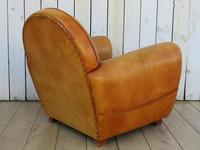 Large French Leather Club Chair (3 of 10)