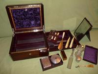 Quality Edge Bound Rosewood Gents Fitted Dressing Box c.1850 (13 of 16)