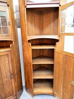 Pair of oak Arts & Crafts cabinets in the manner of Liberty (5 of 7)