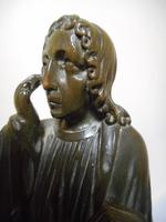19th Century Wooden Carving of a Saint (2 of 6)