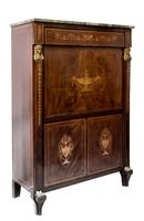 19th Century  French Secretaire a Abattant with a Marble Top