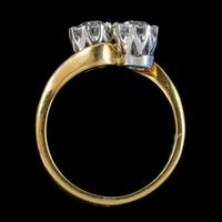 Antique Edwardian 1ct Diamond Twist Ring 18ct Gold Circa 1910 (6 of 9)